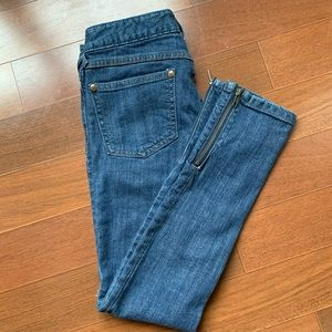 Free People pencil jeans with zip ankle
